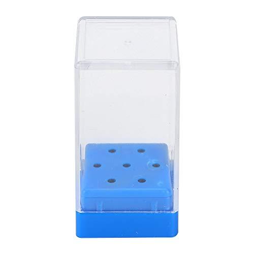 Présentoir 2 trous à 7 trous pour perceuse à ongles, couleur(Bleu)