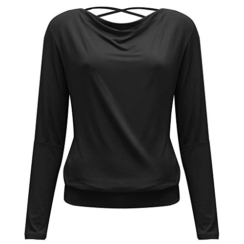 Yogistar - Fitness-Longsleeves für Damen in black, Größe M