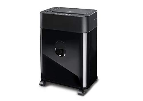 Dahle 35080 Aktenvernichter (80 Blatt, Autofeed Funktion: Automatischer Papiereinzug, P-4, Partikelschnitt, komm auf die sichere Seite - die DSGVO gilt) schwarz
