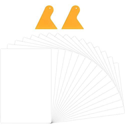 BeYumi Puzzle-Kleber-Blätter, klare Puzzle-Retter, Selbstklebende Puzzle-Unterstützung, transparente Puzzle Preserver, Puzzle-Kleber-Blätter mit 2 Stück Kunststoff-Schaber für Finish Puzzles