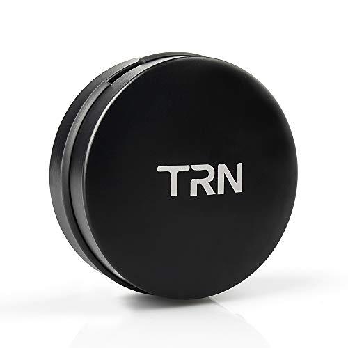 Universal Earbuds Case Mini Storage Hard Earphone Case Protective Waterproof Aluminum Alloy Housing for TRN V80 V10 V20 V60 V90 KZ AS10 Pro Portable Travel Carrying Cases (with TRN Logo)
