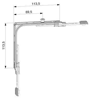 MACO MM Eckumlenkung 1 iS (222201) ; 1 Stück