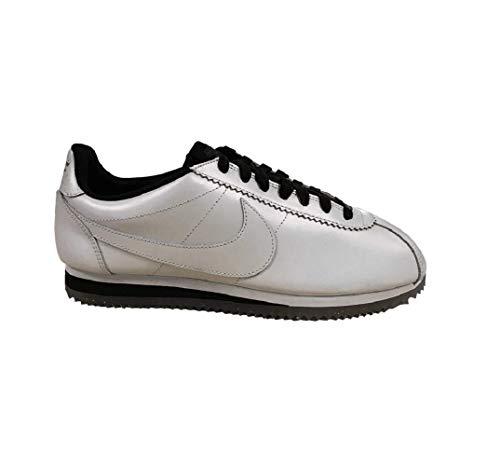 Nike Wmns Classic Cortez Leather Se, Entrenadores Mujer, Blanco (White/White/Black/Metallic Gold), 39 EU
