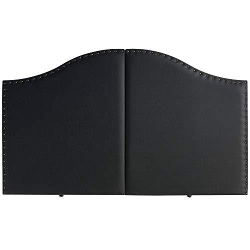marcKonfort Tête de lit Lyon avec des punaises 160X95 Noir