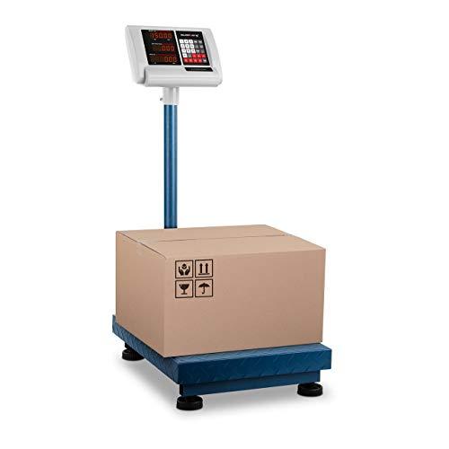 Steinberg Systems Bilancia a piattaforma Pesapacchi Professionale SBS-PF-150/10B (230 V, 4 V, 10 ore, 150 kg, 10 g, Acciaio Inox, Kg, EUR, USD)