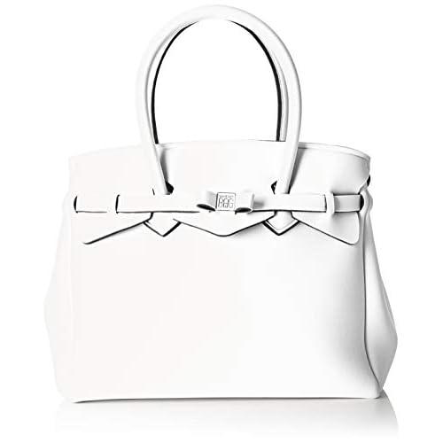 save my bag Miss Plus, Borsa a Spalla Donna, Avorio (Avorio), 34x29x18 cm (W x H x L)