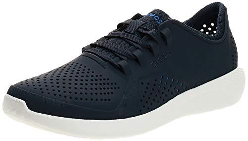Crocs LiteRide Pacer M, Zapatillas Hombre, Azul (Navy White 462b), 42 43 EU
