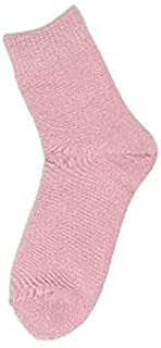 コベス 婦人シルク+コットン二重編靴下 22~24cm×3足 SY301 ピンク