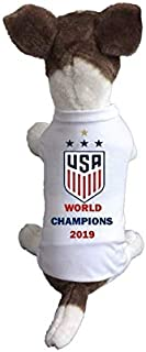 My Pet Boutique Dog Soccer Jersey USA Shirt- Women National Football Team-Gold Cup-World Cup-Cozy up Costume to Celebrate Every Game-Enjoy Your Football Team Passion