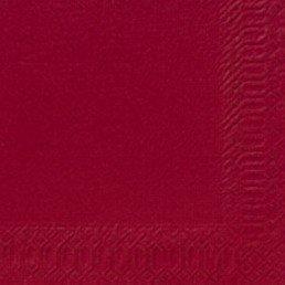 Duni Cocktail-Servietten 3lagig Zelltuch Uni bordeaux, 24 x 24 cm, 250 Stück