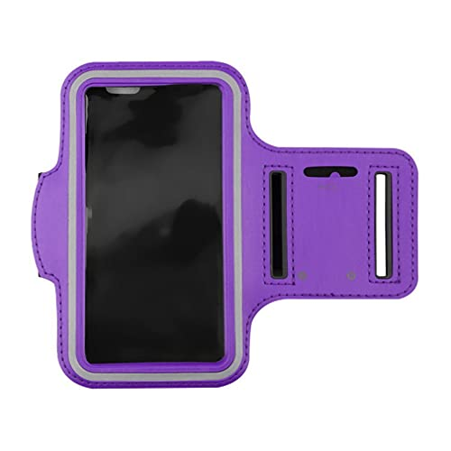 Haowen Estuche para Brazalete para teléfono para Correr Portatarjetas Deportivo Resistente al Agua para iPhone 6 / 6S púrpura M
