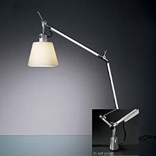 Artemide TLS0004 Tolomeo - One Light Table Lamp with in-Set Pivot, Shade Options: Parchment