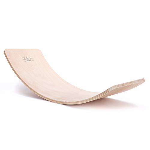 """Erin - Balance Board """"Natur"""" aus Birken Holz für Kinder & Erwachsene - Balancierbrett für Motorik Fitness Training - Wackelbrett zum Balancieren für Kids - Wobble Pad für Gleichgewichtstraining"""