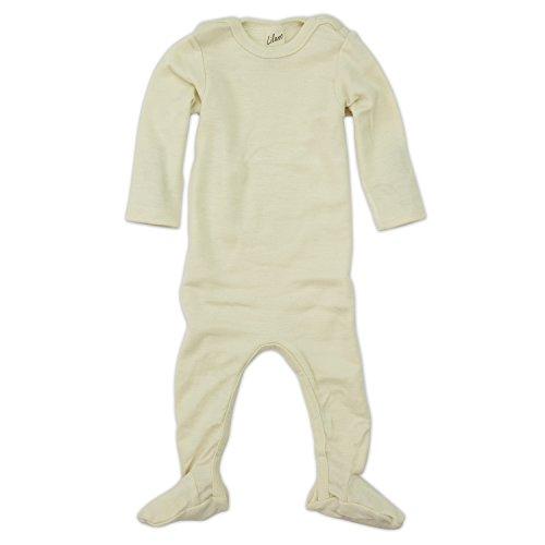 Lilano Schlafanzug - Overall, Größe 62, Farbe Natur von Wollbody® - 70% Schurwolle kbT, 30% Seide - Vertrieb nur durch Wollbody®