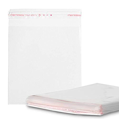 RUBY Transparente Zellophanbeutel aus Kunststoff, mit Klebeverschluss 200 Stück (10 x 14 cm)