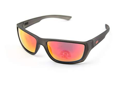 KTM Sonnenbrille UV400 Orange Mirror mit Rahmen Schwarz