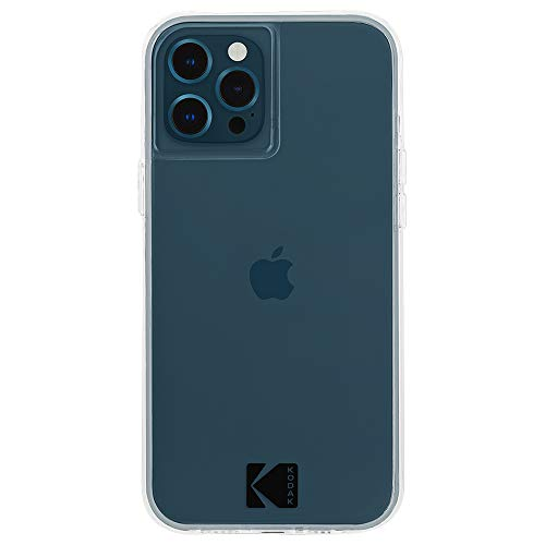 Kodak x Case-Mate - Case for iPhone 12 and iPhone 12 Pro (5G) - 10 ft Drop Protection - 6.1 Inch - Clear Case with Logo