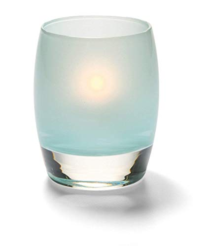 Hollowick Home Satin Seafoam Contour Glass Liquid Candle Holder 3 Pack