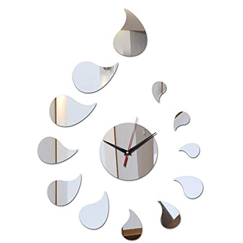 cbvdalodfej Reloj de Pared de acrílico decoración del hogar Relojes de Espejo 3D Caja Fuerte Reloj de Cuarzo Digital Grande Pegatina