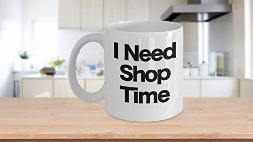 Shop Mug White Coffee Cup Funny Gift for Coffee Pet Donut Shopping Surf Machine
