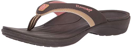 Orthotic Recovery Sandals for Women by Powerstep, Fusion Orthotic Flip Flop Sandals with Built In Arch Support, Shock Absorbing Midsole and Contoured Footbed, Lightweight and Non-Slip Tread, W 11