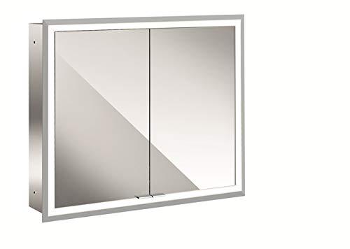 Emco Asis Spiegelschrank mit LED-Beleuchtung (Breite 80 cm, Unterputz-Modell, verspiegelte Rückwand, Badspiegel) 949705072, Spiegel, Normal