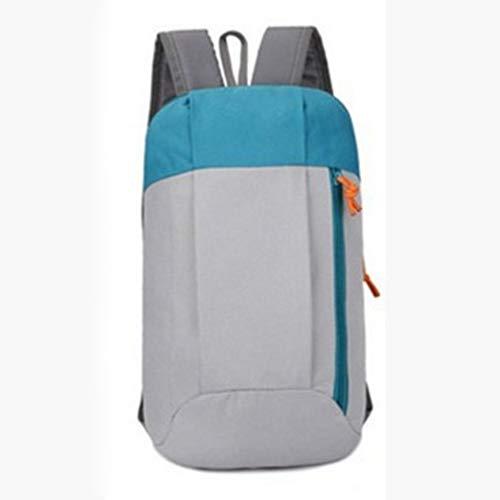 ZAK168 Ultra leichter Rucksack für Männer Frauen 10 L wasserdicht reißfest Wandern Camping Rucksack Unisex Handlicher Rucksack für Reisen, Schule, Outdoor-Sport, hellgrau, Free Size