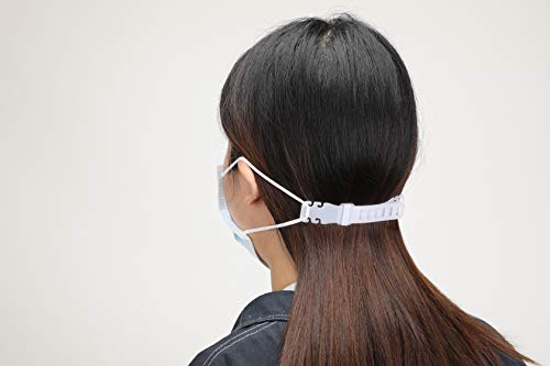 ENJOHOS 5 PCS Máscara Gancho, Tipo de desgaste del oído Hebilla ajustable Pendiente Máscara Hebilla de extensión Útil para prevenir el dolor de oído (blanco)