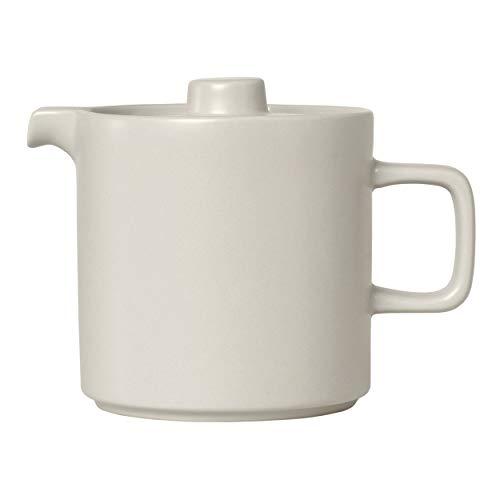 Blomus Teekanne MIO, Kanne, Teebehälter, Henkelkanne, Keramik, Moonbeam, 1 L, 63996