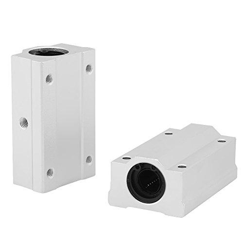 Akozon Blocchetto Scorrevole del Cuscinetto Lineare a Sfera di Movimento Lineare di Alluminio 2pz 12mm per CNC