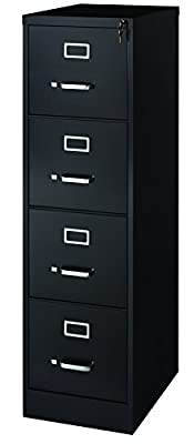 Office Dimensions Commercial 4 Drawer Letter Width Vertical File