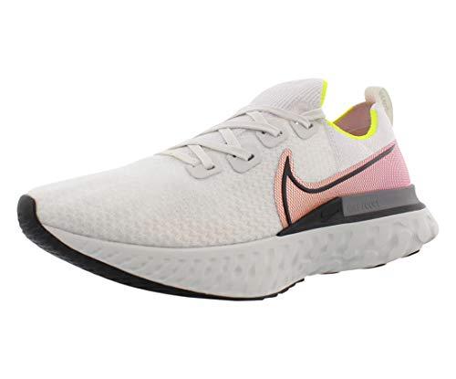 Nike React Infinity Run Flyknit, Scarpe da Corsa Uomo, Grigio (Platinum Tint/Black-Pink Blast), 41 EU