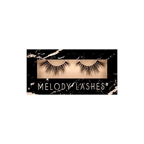Melody False Eyelashes, 3D Falsche Wimpern für mehr Volumize Professional Soft Make-up Look fake Wimpern mit flexible Band, künstliche Lashes (Fancy)