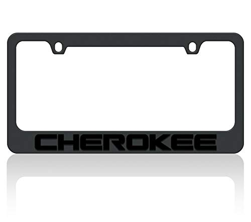Eurosport Daytona Black License Plate Frame- 2018 JEEP Cherokee W/O Black Word