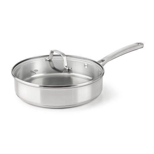 Calphalon Classic Stainless Steel Cookware Saute Pan, 3 Quart, Silver