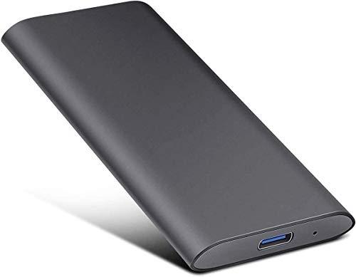 2TB External Hard Drive, Portable Hard Drive External Type-C/USB 2.0 HDD for Mac Laptop PC(2TB-black-a)
