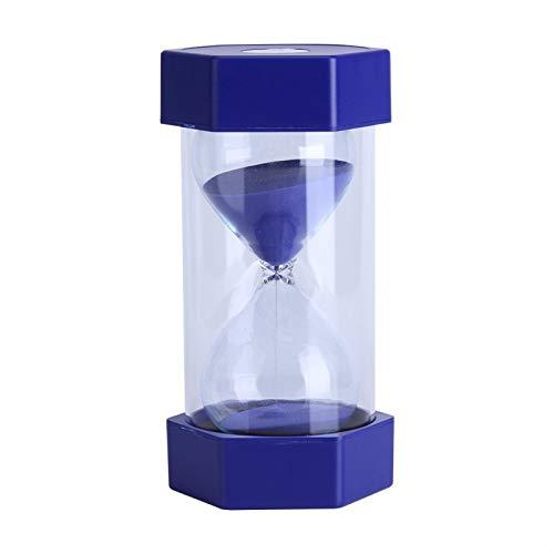 Temporizadores de arena, reloj de arena de cristal de arena colorido 3/10/20/30/60 minutos reloj temporizador decoración de oficina en casa regalo(60 minutos azul)