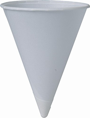 SOLO Cup Company 4BR-2050-1 200 Piece Cone Water Cups, Cold, Paper, 4 oz, White, 1 Count (Pack of 1), Gray