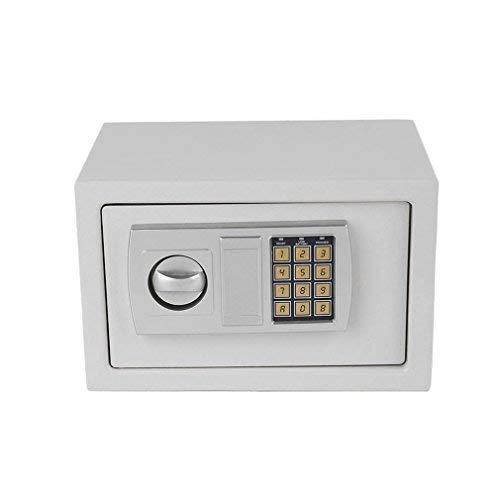Hehilark Cassaforte digitale per mobili, cassaforte per documenti, cassaforte per mobili, serratura elettronica, cassaforte elettronica a combinazione con chiave (M)