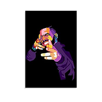 Drake WPAP Canvas Art Poster and Wall Art Picture Print Modern Family Bedroom Decor Posters 08x12inch 20x30cm