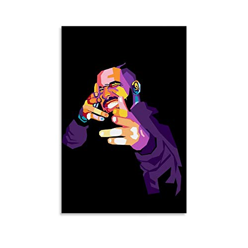 Drake WPAP Canvas Art Poster and Wall Art Picture Print Modern Family Bedroom Decor Posters 08x12inch(20x30cm)