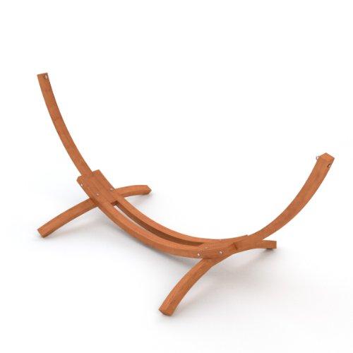 Ampel 24 utomhus hängmatta ram 310 cm, trä sibirisk lärk väderbeständig, ram Mauritius brun utan hängmatta