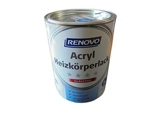 Renovo Acryl Heizkörperlack Weiss Glänzend, 2,5 L