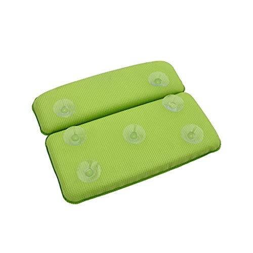 MKVRS 방수 스폰지 스파 필로우 미용 및 건강 욕조 필로우 인체공학적 홈 스파 헤드레스트 논슬립 흡입컵(색채 : 녹색)
