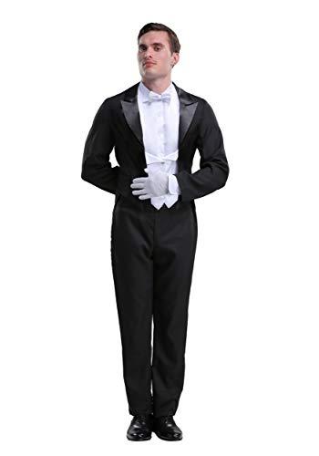 Disfraz de mayordomo para hombre - Negro - X-Small