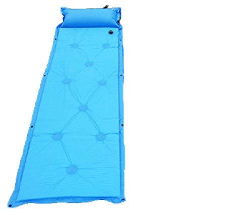 DHUMI Air extérieur Automatique Matelas Gonflable Sac Camping Pad Pique-Nique Tapis siège Mousse étanche Peut être épissé Matelas, Bleu Ciel, 183x57 cm