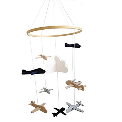 Windspiel Baby Mobile Anhänger 3D Spielzeug Mobile Baby Für Wiege, Sternenhimmel, Flugzeug Und Wolke,Geschenk Zum Valentinstag, Zubehör Für Zu Hause