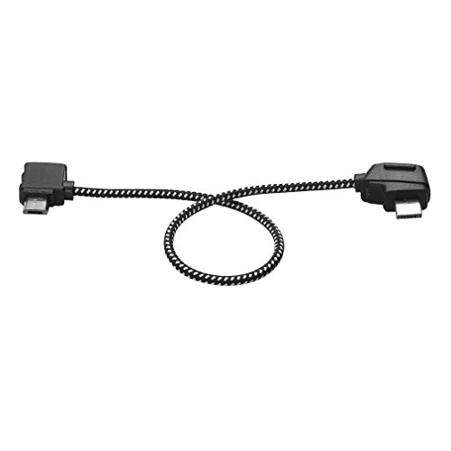 Android Cellphone Reverse Micro-USB Cable 3.66inch for DJI Mavic Pro/Air Remote Control, Nylon Braided Data Line Connecting Cable Connector-Fits iOS Cellphone-for DJI Mavic Pro/Air RC Drone FPV