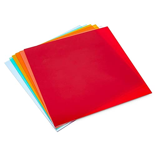 Cast Acrylic Sheet, 6 Translucent Colors (12 x 12 in, 6 Pack)