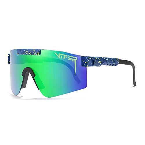 HUALUWANG Pit Viper c Polarized Ciclismo Gafas de Sol Full Screen TR90 Gafas Deportivas Ligeras Irrompibles, Adecuadas para Hombres y Mujeres (Color : C)